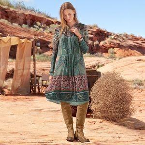 Sundance Leticia Paisley Patchwork Shirttail Dress